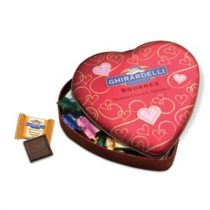 Ghirardelli Chocolate Squares Assortment Tin Heart 7.45oz (Sold Out)