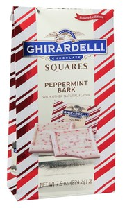Ghirardelli Peppermint Bark Squares Limited Edition 7oz