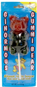Giant Gummi Bear on a Stick - Strawberry & Raspberry 1/2 LB Gummi Bear (Sold Out)