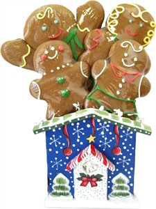 Gingerbread Family Winter Birdhouse Collection (Discontinued)