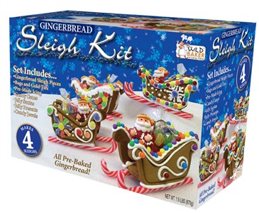 Gingerbread Sleigh Kit 4 Pack
