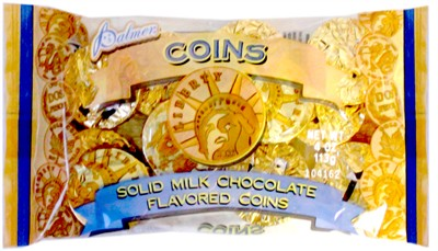 Chocolate Gold Coins 4oz. Bag