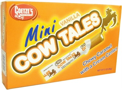 Goetze's Mini Vanilla Cow Tale Theater Size Boxes 12ct.