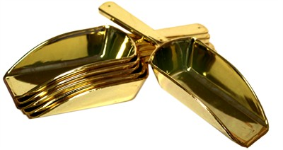 Gold Candy Scoops for Candy Buffets 6ct.