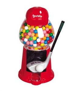 Golf Sports Fan Gumball Machine (Sold Out)