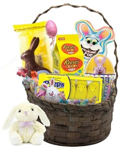 Gourmet Easter Bunny and Eggs Candy Gift Basket (sold out)