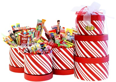Grand Penguin Holiday Nostalgic Candy Tower
