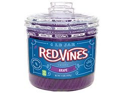 Grape Vines Purple Grape Licorice Twists Tub 240ct.