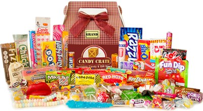 Retro candy gift baskets & boxes