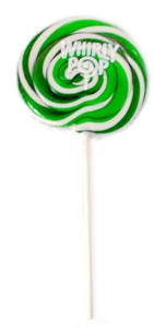 Green & White Whirly Pop 1.5 oz. - 3 inch