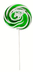 Green & White Whirly Pop 1.5oz - 3 inch 12ct