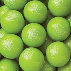 Green Apple Bulk Dubble Bubble 1-Inch Gumballs 5LB