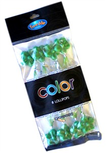 Twinkle Candy Color Flower Lollipops - Green 8ct.