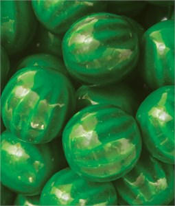 Green Watermelon Dubble Bubble 1-Inch Gumballs 5LB
