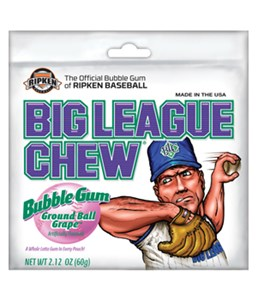 Big League Chew Bubblegum - Ground Ball Grape