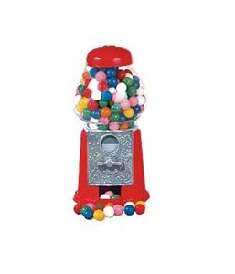 Petite Gumball Machine 13oz with 8oz. Gumballs