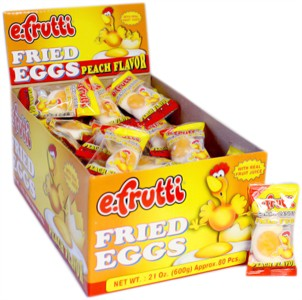 Gummi Fried Eggs Peach Flavor 80ct.