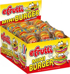 Gummi Mini Burgers Original or Sour 60ct