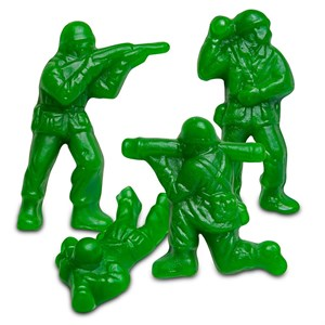 Gummy Green Army Guys 5LB