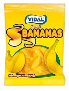 Gummy Bananas 3.5oz.