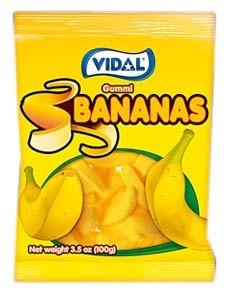 Gummy Bananas 3.5oz.