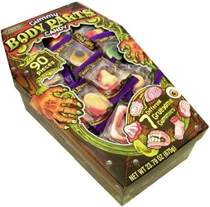 Gummy Body Parts Coffin 90ct. (sold out)
