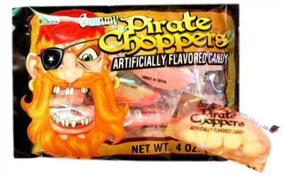 Gummy Pirate Choppers 12ct. (Discontinued)
