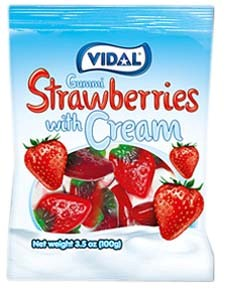 Gummy Strawberries with Cream 3.5oz.