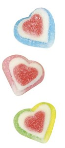 Gummy Assorted Triple Hearts Bulk, heart gummies, heart candy