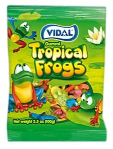 Gummy Tropical Frogs 3.5oz.