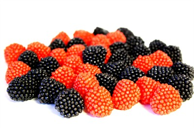 Gummi Raspberries & Blackberries 5LB