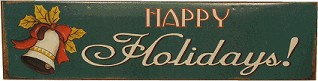 HAPPY HOLIDAYS NOSTALGIC TIN SIGN(Discontinued)