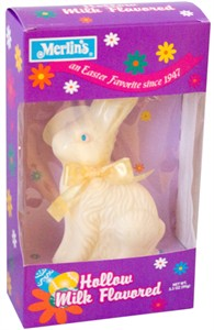 Hollow White Chocolate Easter Bunny - 3.5oz.