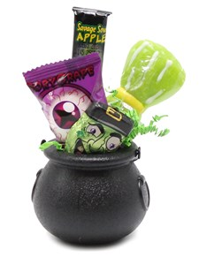 Halloween Cauldron Candy Favor