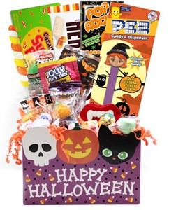 Halloween Pumpkin Candy Gift Basket