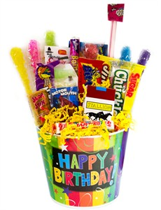 Happy Birthday Bucket Nostalgic Candy Gift