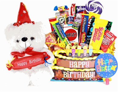 Happy Birthday Bear Retro Candy Assortment