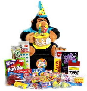 Happy Birthday Musical Gorilla Retro Candy Gift Box
