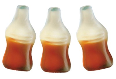 Happy Cola Gummy Candy Bottles 5LB