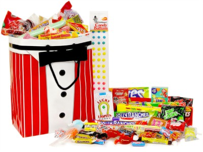 Tuxedo Gift Bag Retro Candy Assortment