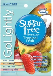 GoLightly Hard Candy Assorted Tropical - Sugar Free - 2.75oz. Bag
