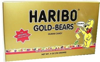 Gummi Bears Haribo Theater Size Box 4oz.