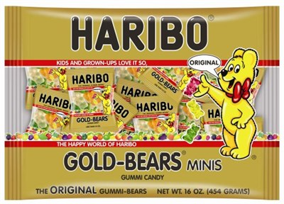 Gummi Bear Minis by Haribo 72ct. Tub