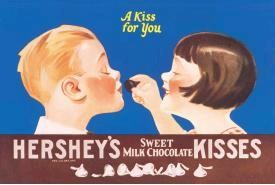 "HERSHEY'S ""KISS FOR YOU""  METAL SIGN (SOLD OUT)"