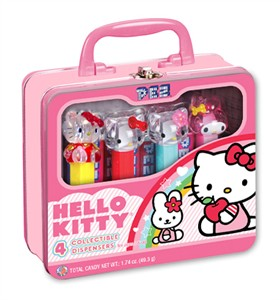Hello Kitty Collectible PEZ Dispenser Gift Set