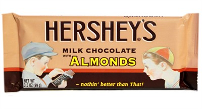 Hersheys nostalgic milk chocolate almond bars