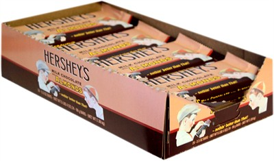 Hershey's Nostalgic Milk Chocolate King Size Bars with Almonds - 24ct.