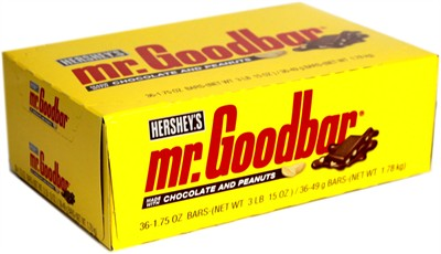 Mr. Goodbar Chocolate and Peanuts Candy Bars - 36ct.