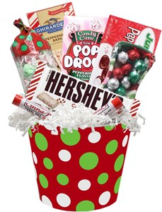 Holiday Goodies Gift Planter with Ceramic Candy Dish