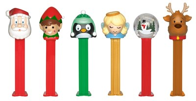 Christmas Blister Pack Pez Dispensers 12ct.